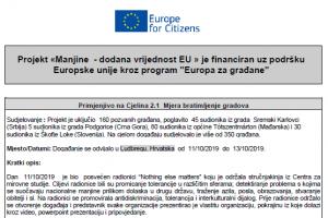 EUROPE FOR CITIZENS - Projekat